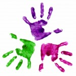three handprints